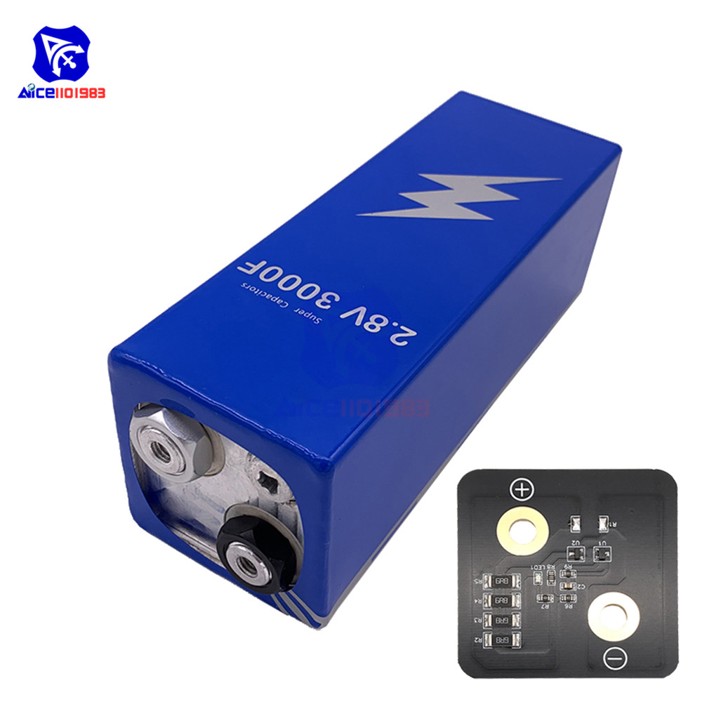 Super Farad Capacitor 2.8V 3000F 161*56*56mm Low ESR High Frequency Super Capacitor 2.8V3000F With Protection Board For Car