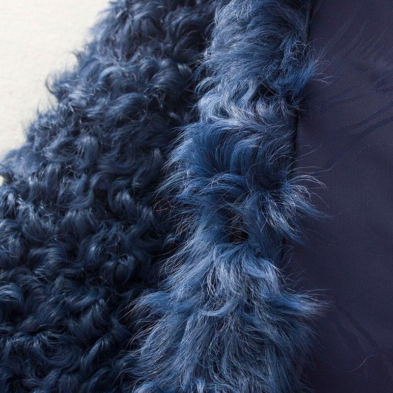 De Manteau La Femme Femmes Veste Fourrure Furlapel Naturel Manteaux Long Hiver D'hiver Vraie Avec Agneau ZrdBYqdw