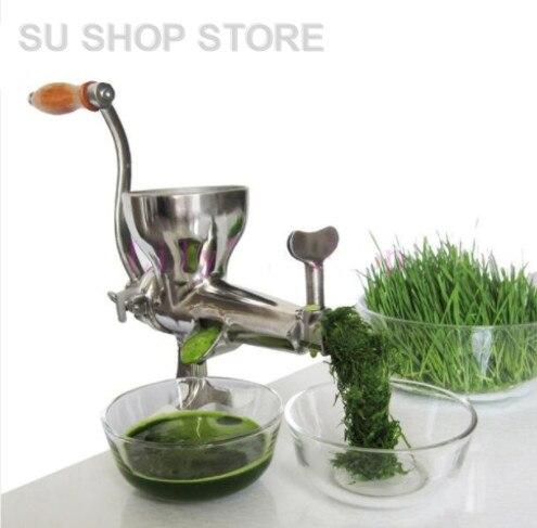 где купить Hand Stainless Steel wheatgrass juicer manual Auger Slow squeezer Fruit Wheat Grass Vegetable orange juice press extractor по лучшей цене