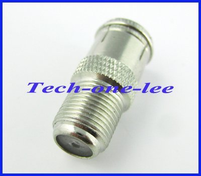 1pcs F adapter F female to Quick F male connector adapter straight nickelplated free shipping