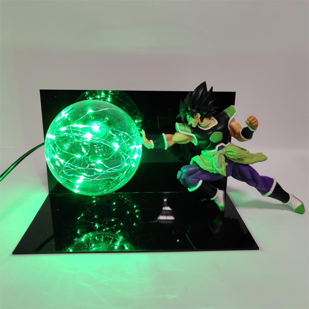 Led Lamps Led Night Lights Dragon Ball Broly Vs Vegeta Led Night Light Dragon Ball Super Anime Figure Green Rock Base Table Lamp Lampara Dragon Ball Dbz Goods Of Every Description Are Available