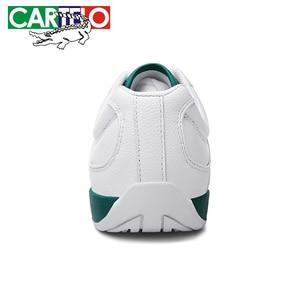Image 5 - Cartelo新メンズカジュアルシューズ通気性ウェアラブル靴快適なホワイト丸頭ストラップフラットsnekaers