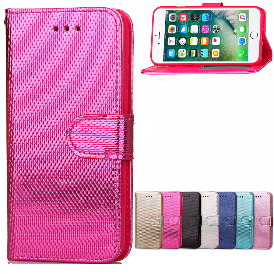 luxury fashion 3d bling pu leather soft silicone wallet flip cover for iphone 7 47quot