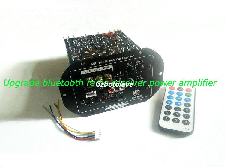 12V 24V Wireless bluetooth double transistors power amplifier board car Subwoofer host Remote control board support FM
