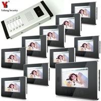 YobangSecurity 7 Color Video Phone Doorbell Camera Entry Intercom System For 1 Unit Apartment Door Video Intercom