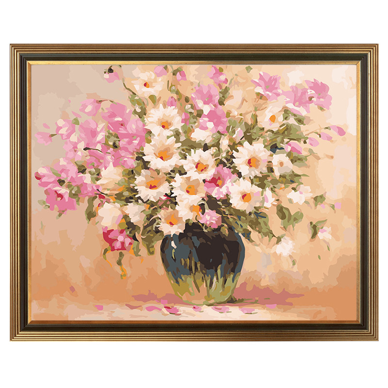 Diy Painting By Numbers Bedroom Bed Head Painting Fresh Flowers No Framed