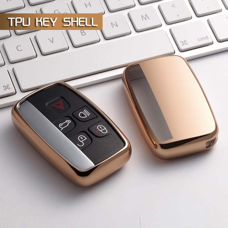 TPU Car Key Case Cover stikcer For Land Rover Range Rover Evoque Accessories Freelander Discovery Keychain Case Car styling