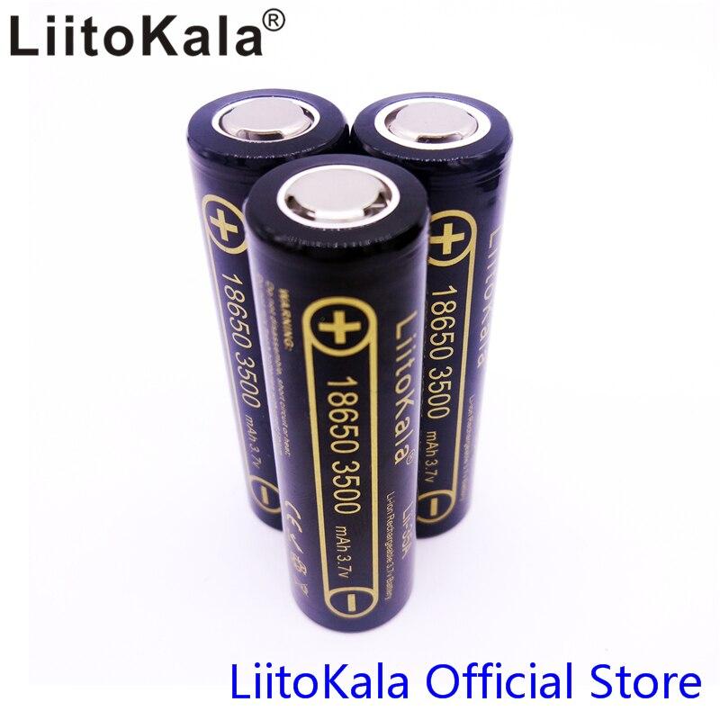 3 PCS 100% D'origine LiitoKala Lii-35A 3.7 V 3500 mAh NCR18650GA 10A Décharge Rechargeable Batteries Pour Sanyo 18650 Batterie/UAV