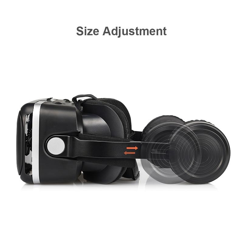 100 Original Vr Shinecon 6 0 Virtual Reality Goggles 120 Fov 3d Glasses Google Cardboard With Headset Stereo Box For Smartphone