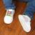 Zapatillas de lona Del Bebé Zapatos de Niña, Primer Caminante De Goma Meisje Schoenen Zapatos Mocasín de Polo Del Niño Suaves Del Bebé 503155