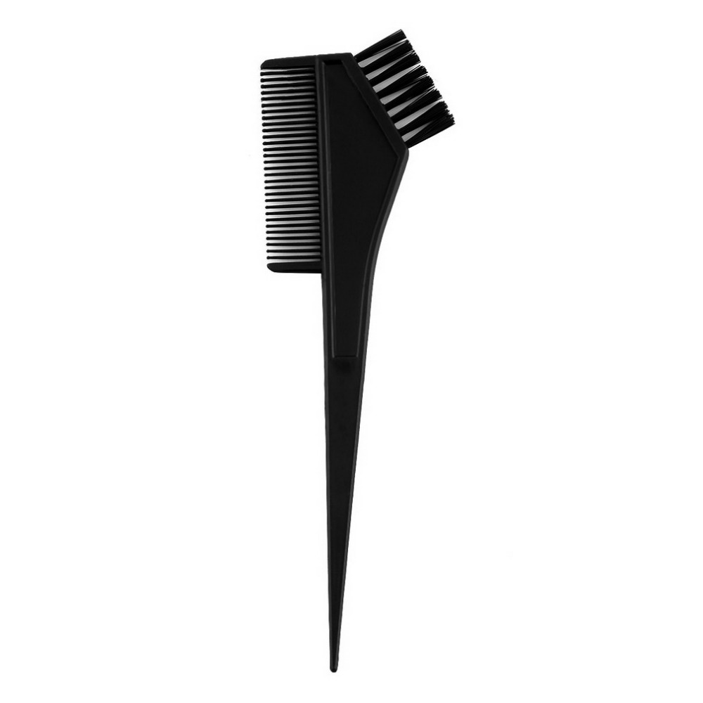 1Set Black Plastic Hair Dye Colouring Brush Comb Mixing Bowl Barber Salon Tint Hairdressing Styling Tools Escova Tinge Cabelos