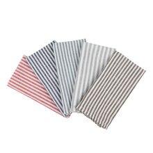 Conjunto de guardanapos de pano de jantar de algodão de linho listrado liso de 12 (40x30 cm) 8 cores para eventos e uso doméstico