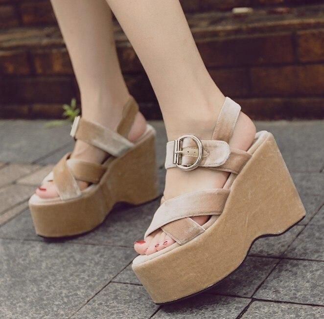 Aiykazysdl Summer Donna Sandals Platform Wedge Ultra High Heels Comfort St Ankle St Comfort f2502e