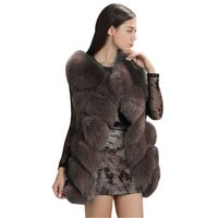 EFINNY Women Winter Faux Fur Coat 2018 New Fashion Casual Warm Slim Sleeveless Faux Fur Vest Jacket Female feminino