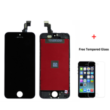 AAA Quality No Dead Pixel For iPhone 5S 5C 5 LCD Display with Touch Screen Digitizer Assembly Black White Free shipping