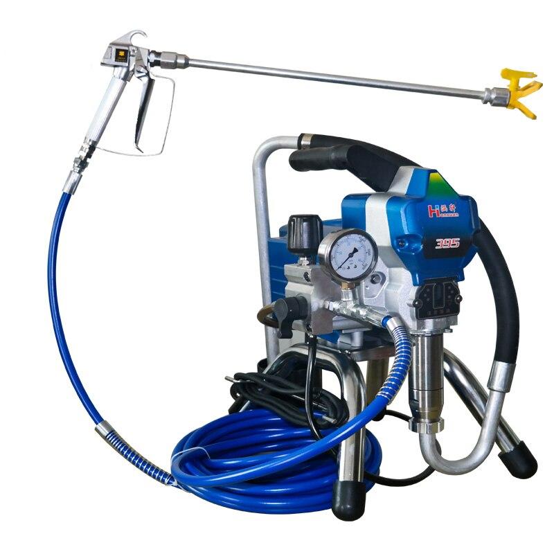 Airless Paint Sprayer Machine High Pressure Electric Painting Equipment 395 With Spray Gun Painting Tool  2000W DIY Paint
