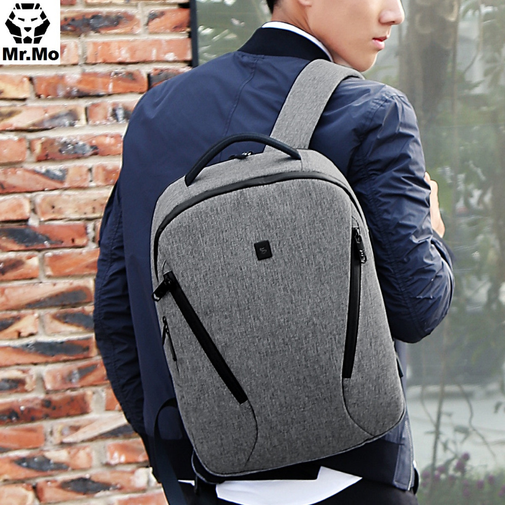 Fashion Men Canvas Laptop Backpacks USB Port Backpack Computer Bookbag for School Back pack Water Repellent Oxford Rucksack
