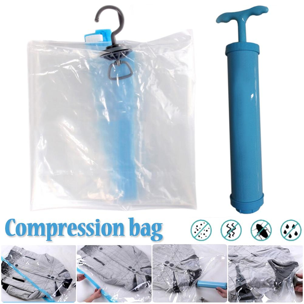 Vacuum Air Pumping Compression Bag Clothing Hanger Wardrobe Clothes Storage Bag Organizer(Need to wait for one month) spülbecken sieb