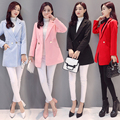 Новый осень зима женщины моды ткань пальто шерстяная ткань дамы jassen женщина пальто элегантный твердый размер S-XXL