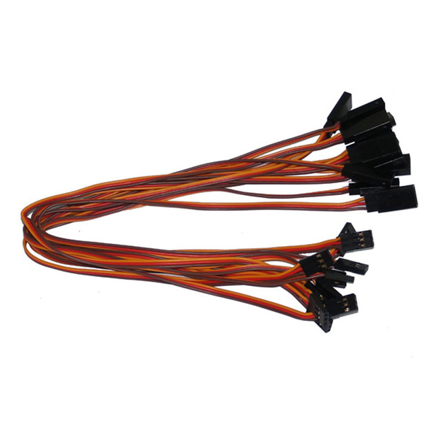 Free shipping 10pcs/lot 300mm 30cm 60cm 26AWG RC servo extension Lead wire cable for Futaba JR male to female plug cables wiring