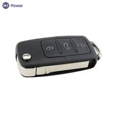 Hi-power Remote 3 Buttons Car Key Shell ABS Fashion Car Styling For Audi A2 A3 A4 A6 A8 TT 1 Button Flip Folding Car Key Shell(China)