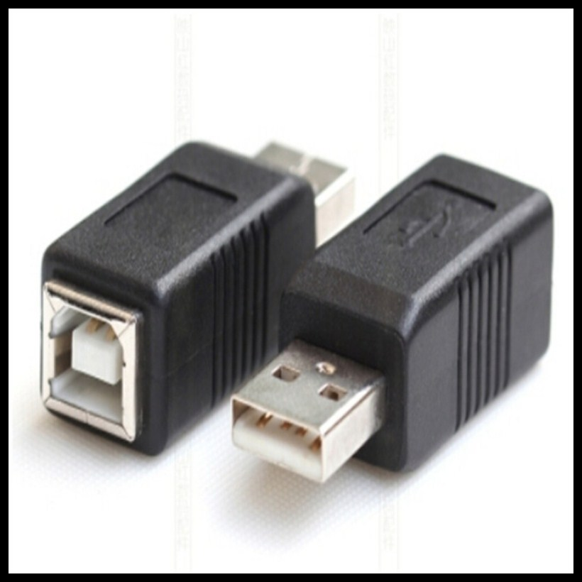 USB2.0 A female to B female A male to B female printer print converter adapter connector USB 2.0 port retail wholesale best price portable usb 2 0 type a male to usb type b female plug extend printer adapter converter new arrival for