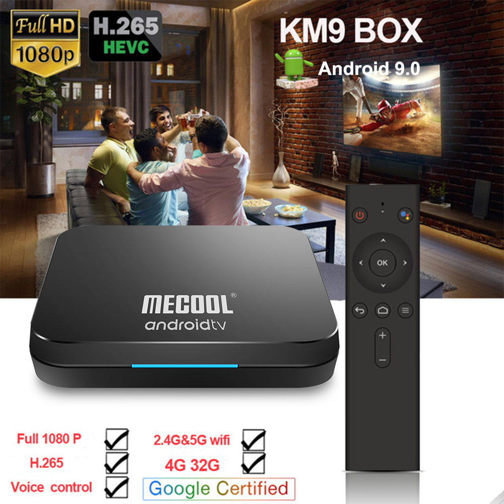 2019 Newest KM9 ATV smart Voice Control 4G 32G Android 9 0 Amlogic S905X2 box support