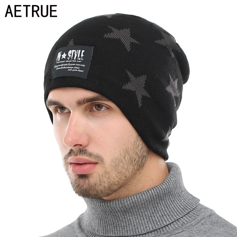 AETRUE   Skullies     Beanies   Men Winter Hats For Men Women Knitted Hat Bonnet Fashion Caps Warm Baggy Gorros Brand Male   Beanie   Hat