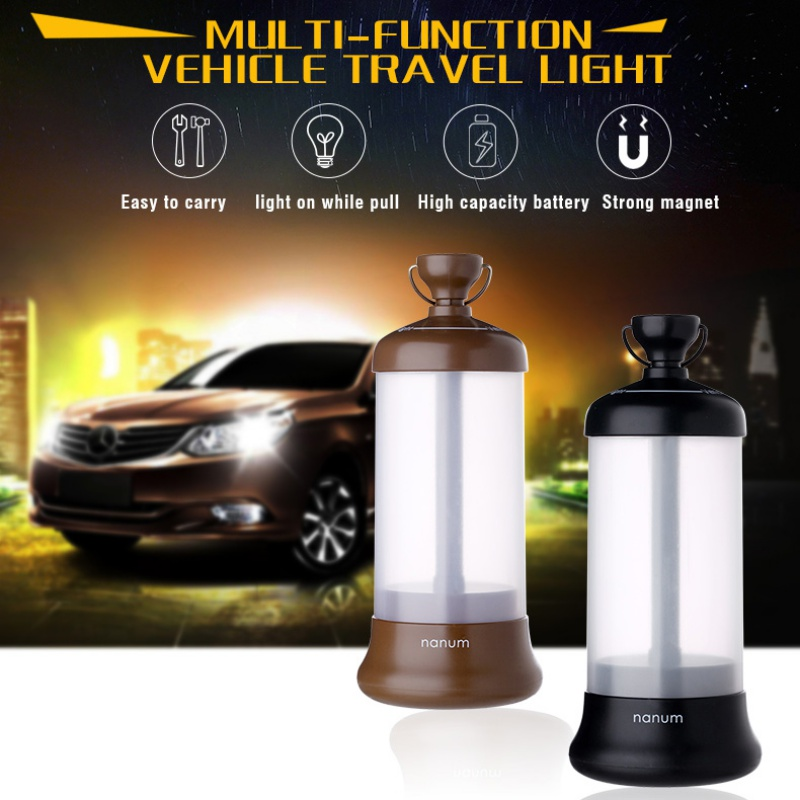 Vehicle Travel Light three color Travel Agency light with multi-function LED Car Camping lights