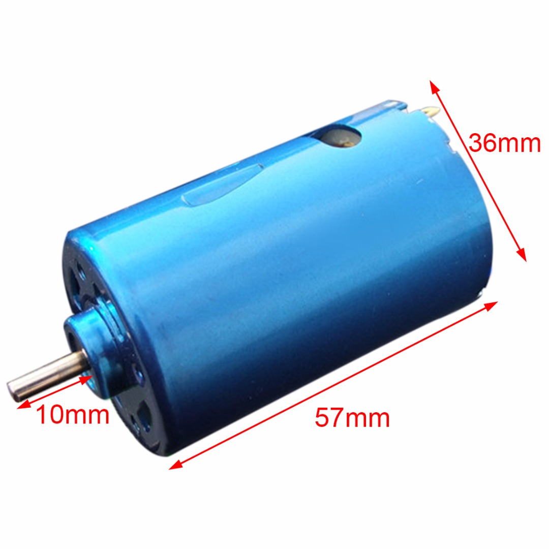 1pc Blue RS-550 DC Motor High Speed Large Torque RC Car Boat Model 12V 24V 30000RPM