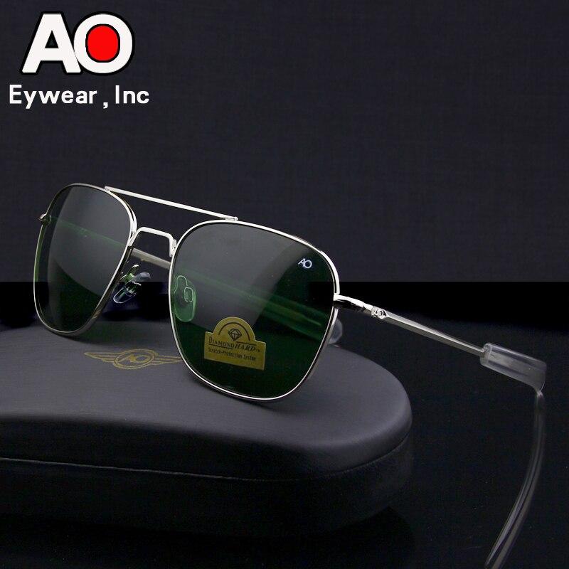 Aviação óculos de sol homem 2019 condução piloto exército americano militar optical ao óculos de sol óculos de sol