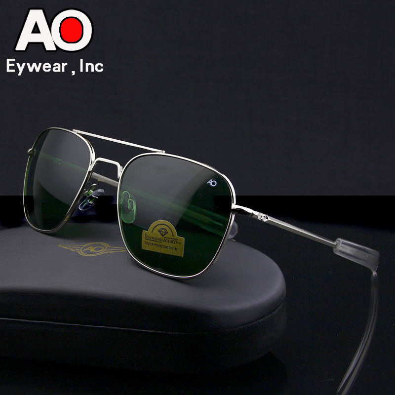 Aviation Sunglasses Men 2019 driving glasses pilot American Army Military Optical AO SunGlasses glasses Oculos de sol image