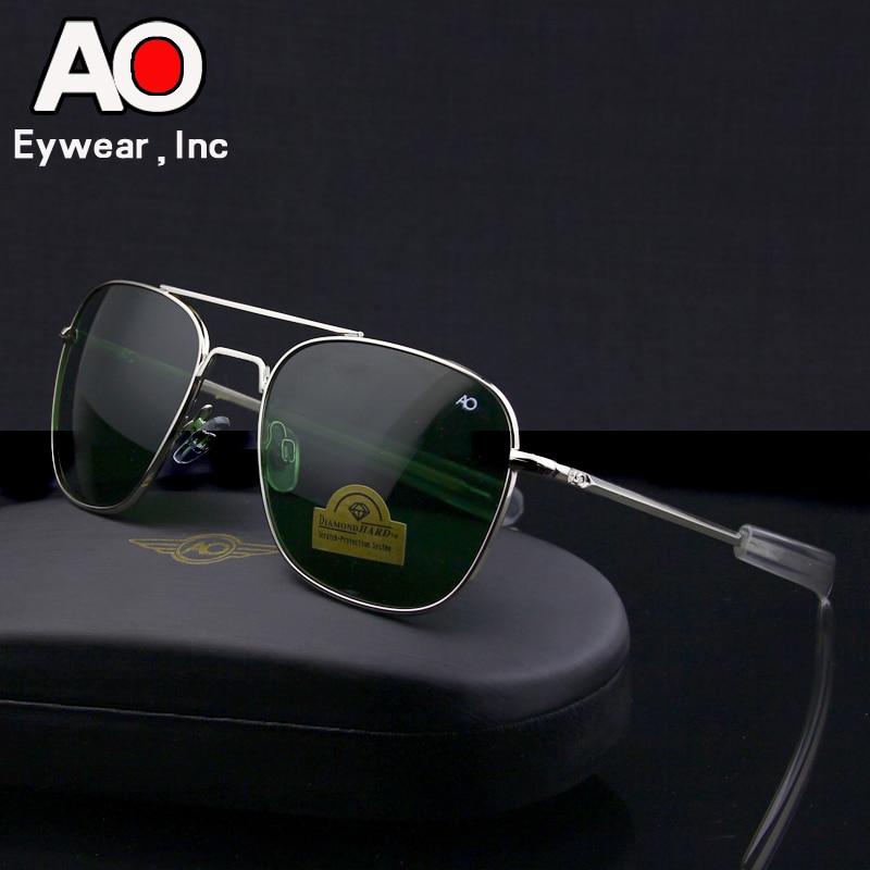Aviation Sunglasses Men 2019 Driving Glasses Pilot American Army Military Optical AO  SunGlasses Glasses Oculos De Sol