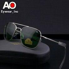 Aviação óculos de sol homem mulher 2021 condução piloto exército americano militar optical ao óculos de sol