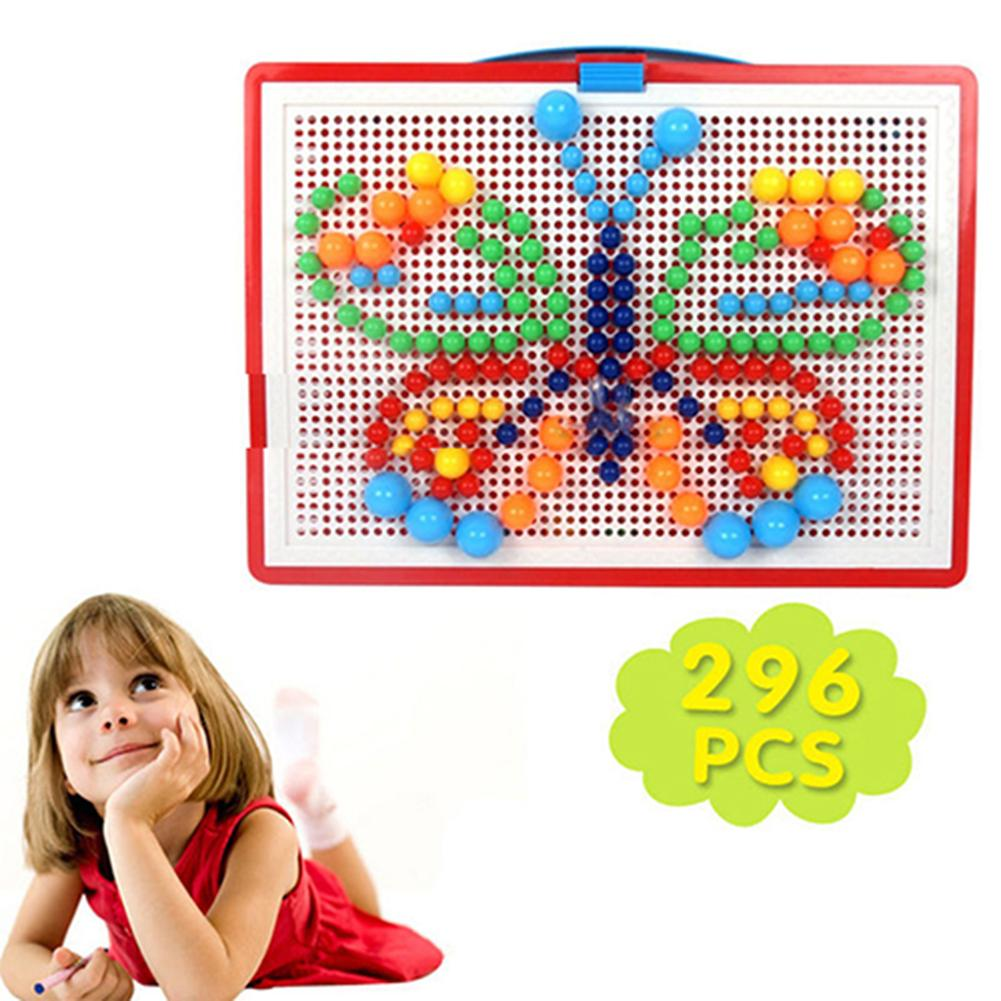 Fashion Children Puzzle Peg Board With 296 Pegs For Kids Early Educational Toys DIY Gift