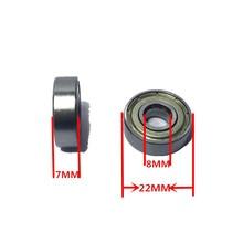 цена на 10pcs Double Shielded Miniature High-carbon Steel Single Row 608ZZ ABEC-5 Deep Groove Ball Bearing 8x22x7 MM 608 ZZ Original