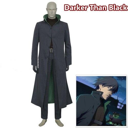 Anime! Plus foncé que noir Lishunsheng uniforme Cosplay Costume vêtements + manteau + pantalon + cuirass + ceinture + paquet tactique + gants livraison gratuite