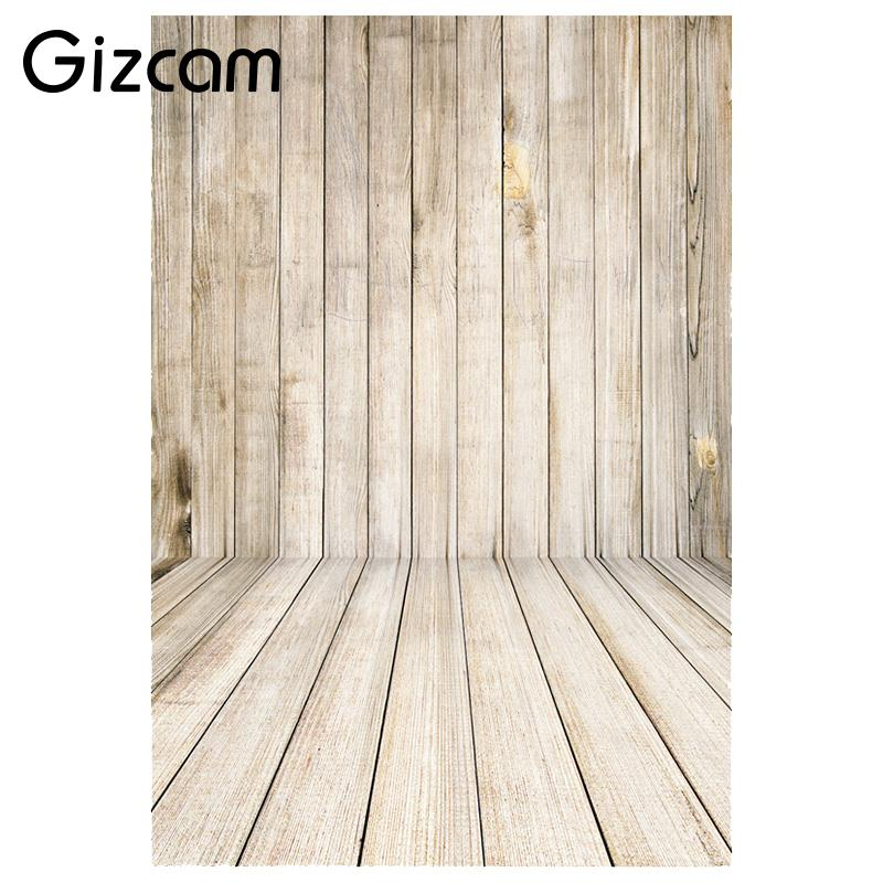 Gizcam 1x1.5M Retro Wood Wall Floor Baby Photography Backdrop Photo Background Props huayi 4pc 2x2ft wood floor brick wall backdrop vinyl photography backdrops photo props background small object shooting gy 019