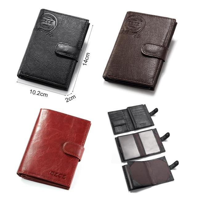 billetera 100% de cuero genuino de los hombres de negocios Cartera de hombre bolso diseñador de lujo de alta calidad cartera de hombre de cuero de vaca Casual bolso de los hombres