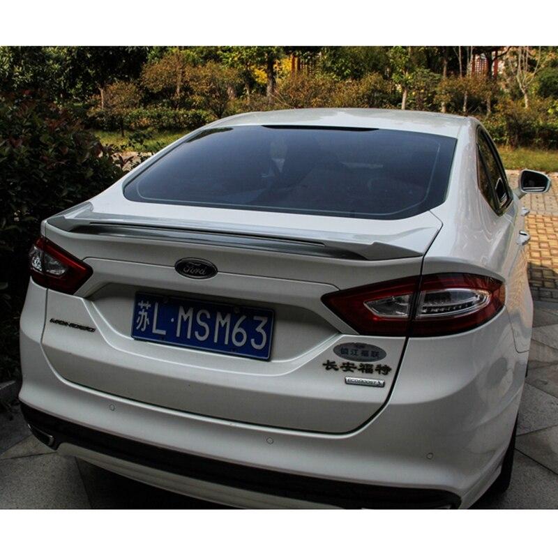 Para Ford Mondeo/fusión decoración del coche 2013, 2014, 2015, 2016, 2017 ABS de plástico pintura Color de LED en el trasero Spoiler - 2