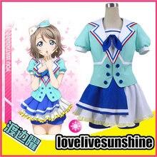 Japan Anime LoveLive! Sunshine!! You Watanabe Chika Takami Cosplay Costume Uniform Outfit Full Set Custom-made