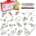 20PCS per Set Metal Wire Puzzle Magic Brain Teaser Game Toys for Adults Children