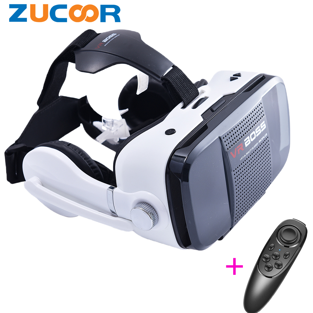 High quality Google Cardboard VR Boss 3D Game Video Glasses virtual reality Box Headphones for Smartphones