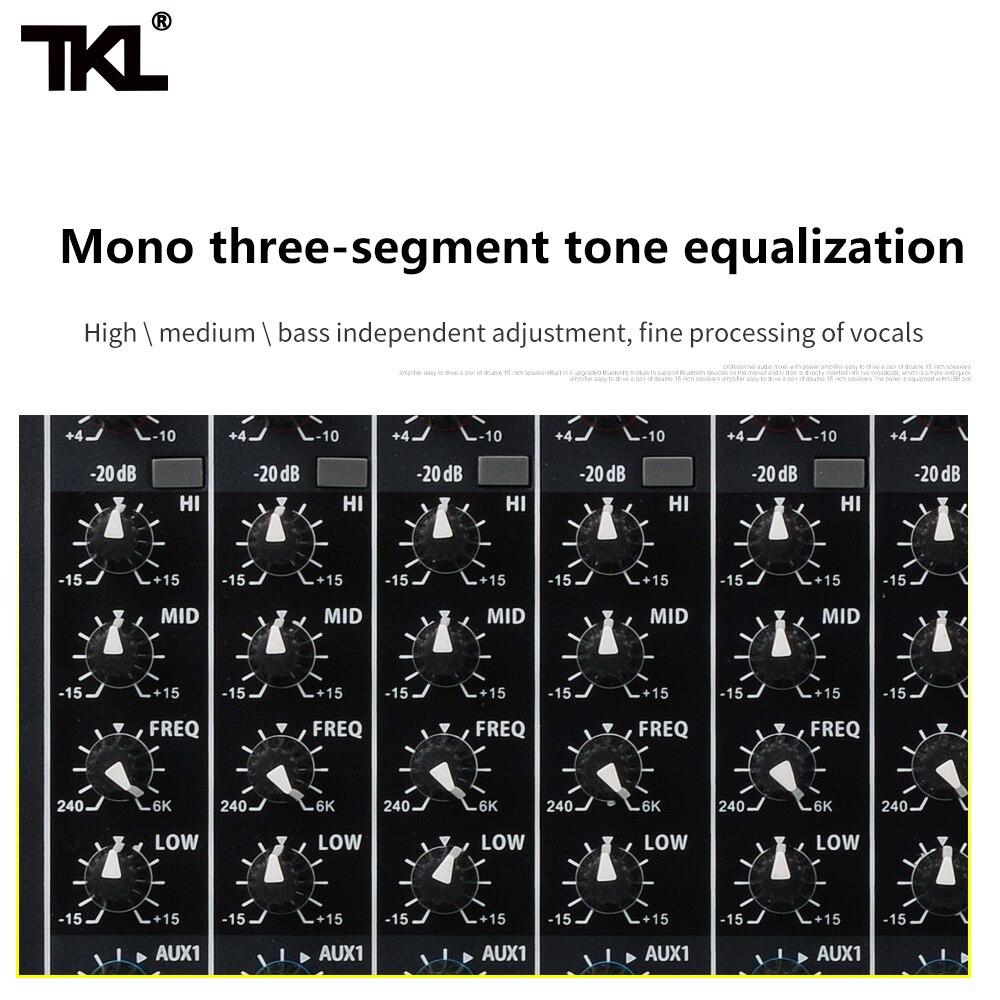 TKL 8-kanal Digital Mixer Professional Audio Sound Mischen Reverb Und Effekte Bluetooth 2USB DJ Mischer