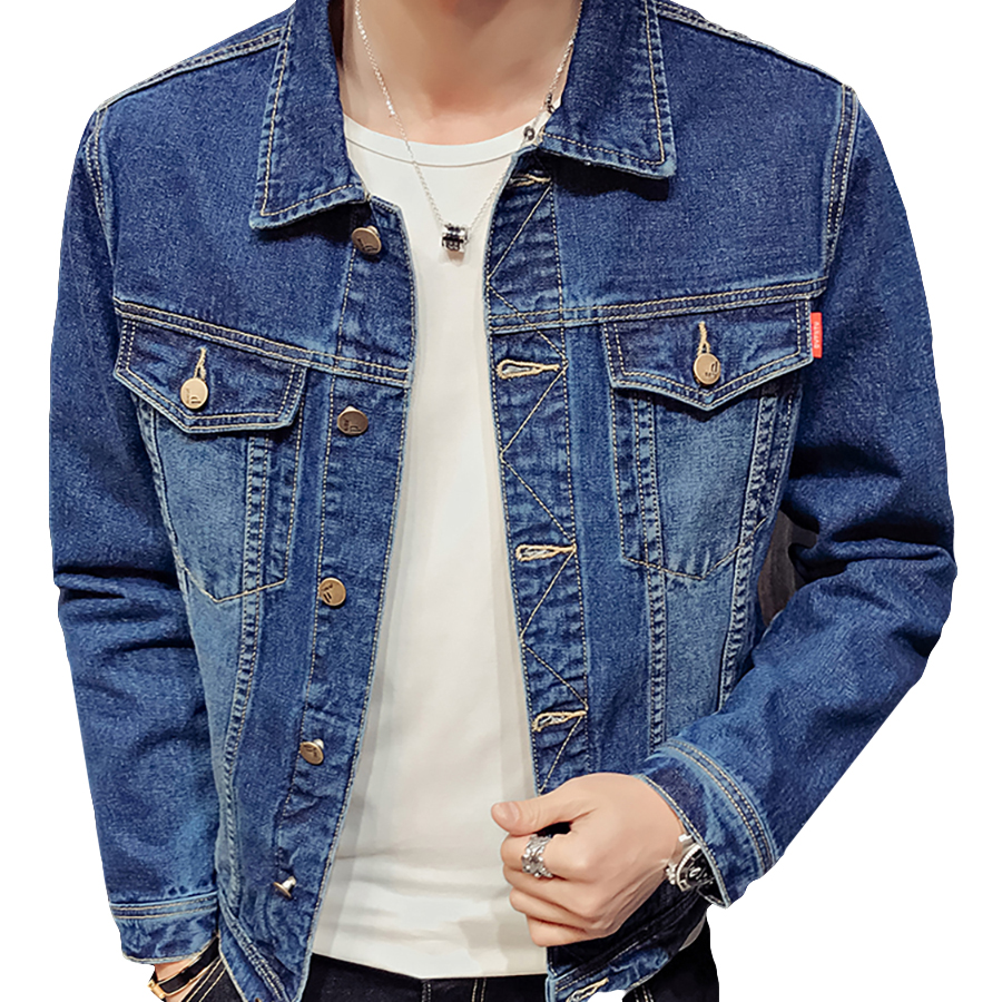 Denim Jeans Men Jacket Spring Slim Fit Casual Coat Men Punk Rave Hip Hop Streetwear Erkek Mont Mens Coats And Jackets Jk6032 euramerican style baggy hip hop men jeans widened increase skateboard pants comfortable mid waist casual mens streetwear jeans