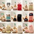 Unisex children socks 1 pair gift box  floor sock boys socks girls kids Children cute animal winter thick warm socks cotton