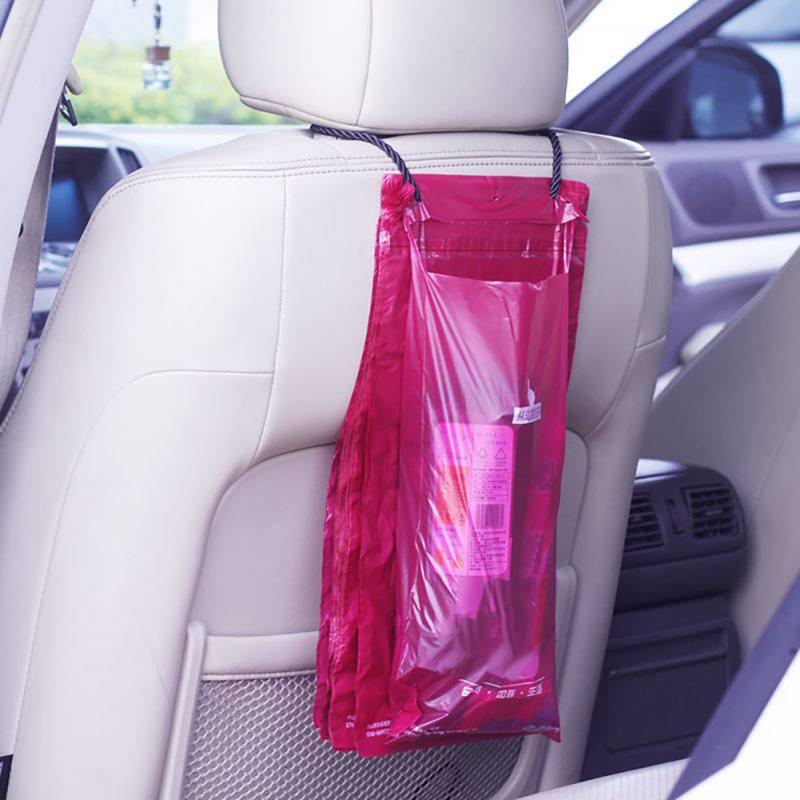 50Pcs Traveling Portable Car Garbage Bag Auto Seat Back Hanging Trash Bin Disposable Car Organizer Storage Bag