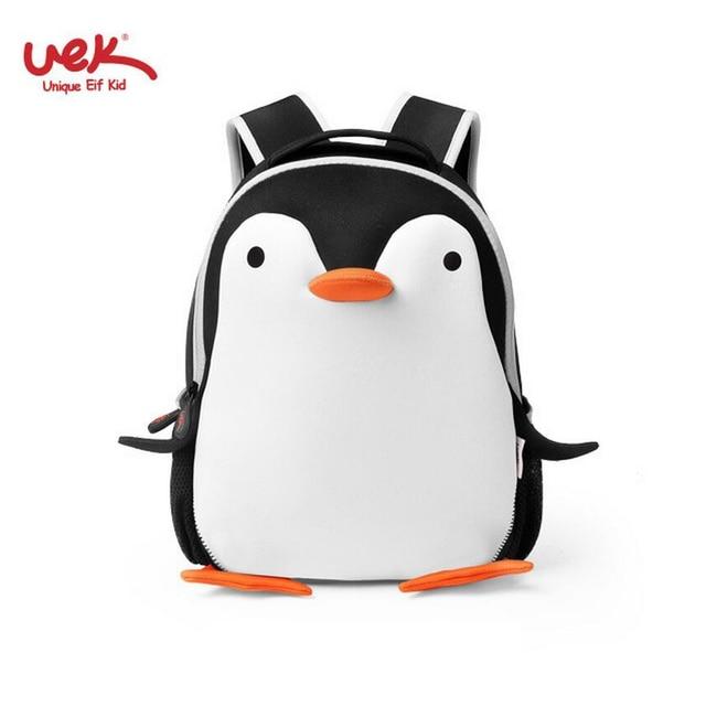 Penguin Uek Brand Kindergarten Backpacks For School Bag S Kids Cartoon Child Backpack Cute