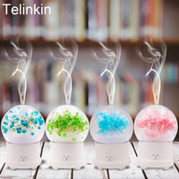 100ml Humidifier Preserved Flower Aroma Diffuser Electric Ultrasonic Oil Diffuser Mist Maker With 7 Color Lamps