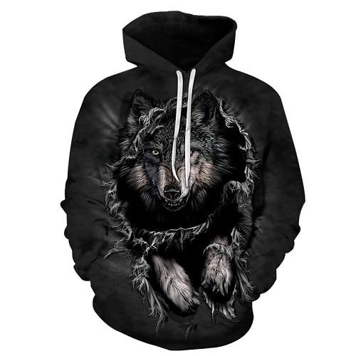Mountain Wolf Hoodies 3D Men Hoodie Brand Sweatshirt Hooded Pullover Cool Animal Print Tracksuits Unisex 6XL Outwear Boy Jakcet Mountain Wolf Hoodies HTB1TV7rbjihSKJjy0Ffq6zGzFXai